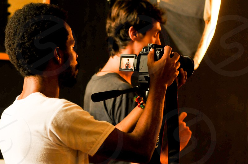 Filming a short movie  shooting  photo