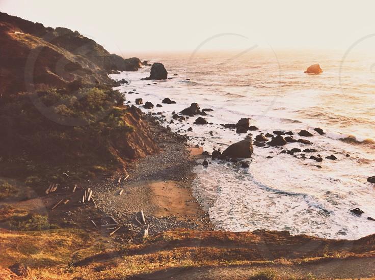 rocky beach photo