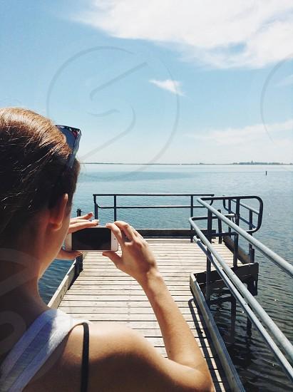 wooden pier photo