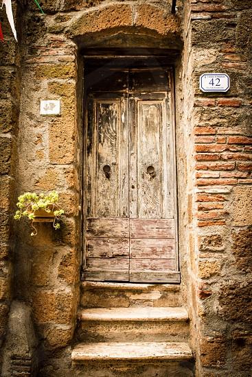 Door porta House casa Pitigliano italy photo