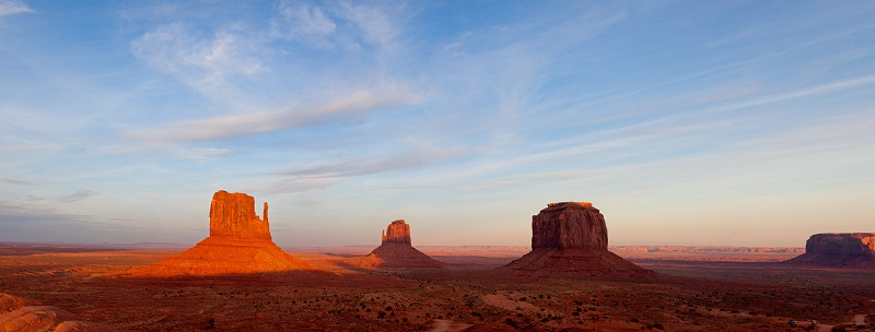 Sun Setting over Monument Valley in Utah photo