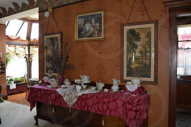 Vintage tea service. photo