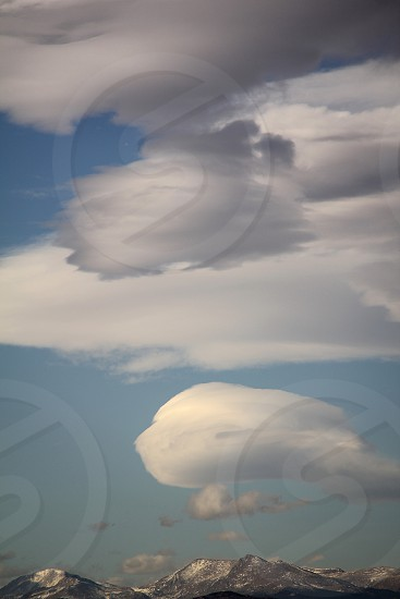 Lenticular clouds 1 photo