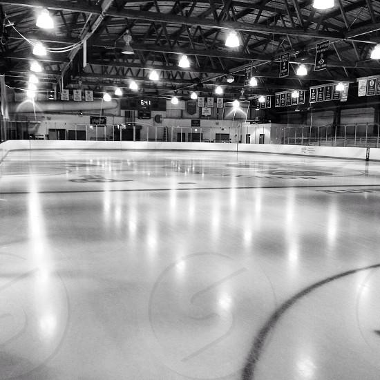 Empty ice rink photo