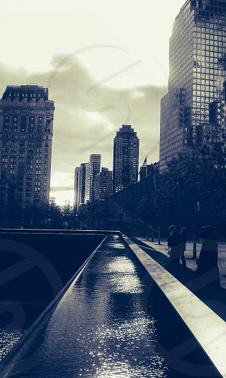 New York at the 9/11 Memorial. photo