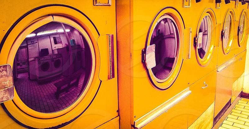 Ultra retro 'Tidy Whities' laundromat in Girard KS. photo