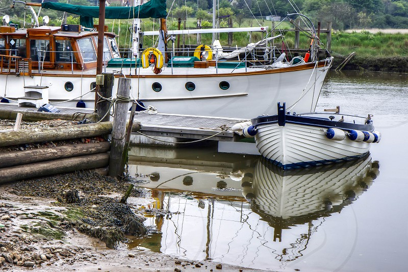 Boats on the River Blyth at Southwold photo