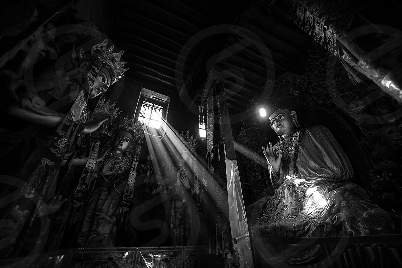 Buddha Buddhism Temple Tibet Asia photo