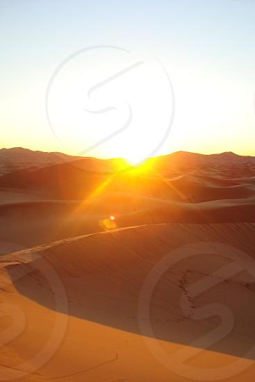 Sun in the Sahara photo