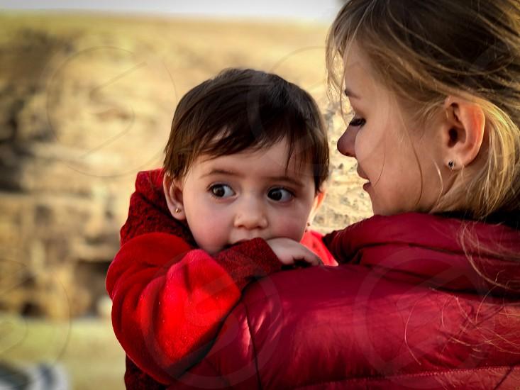 Bedouin Child Baby Desert Judea  photo