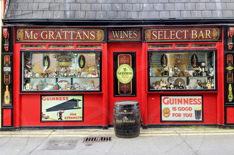 An Irish bar in Dublin city Ireland. photo