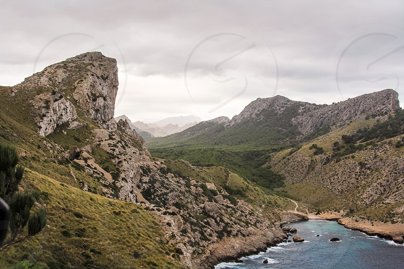 Mountains scenic landscape tropical Palma mediterranean photo