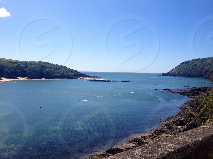 Salcombe blue sea estuary bar  photo