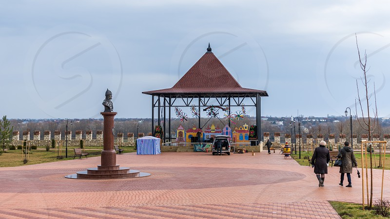 Alexander Nevsky Park on the territory of the historical architectural complex of the ancient Ottoman Citadel in Bender Transnistria Moldova. photo