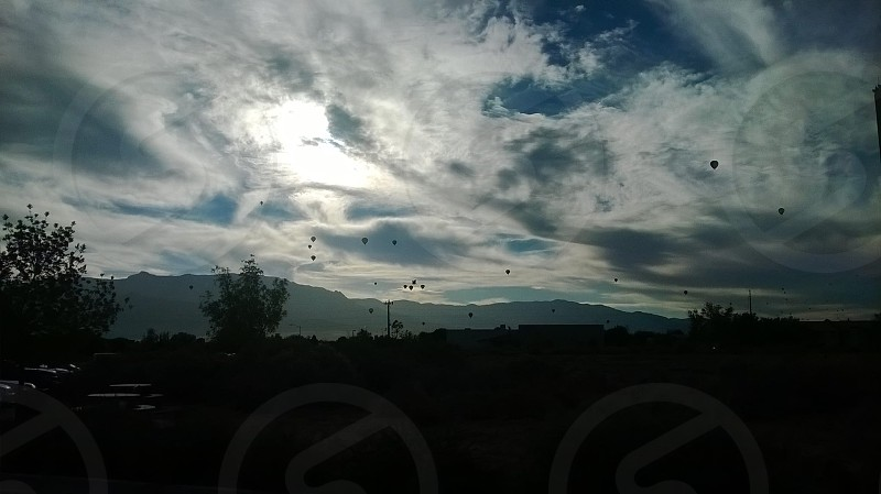 Balloon fiesta morning over Albquerque photo