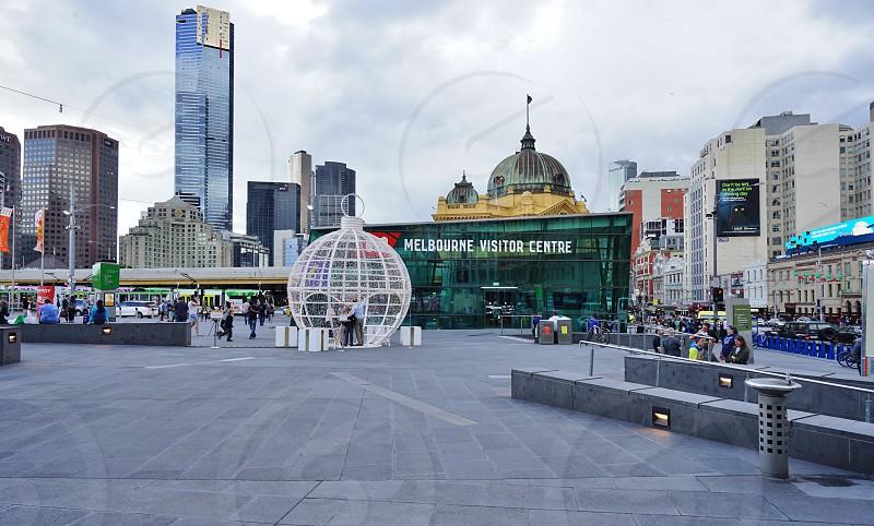 Federation Square in Melbourne City Center - Melbourne Victoria Australia photo