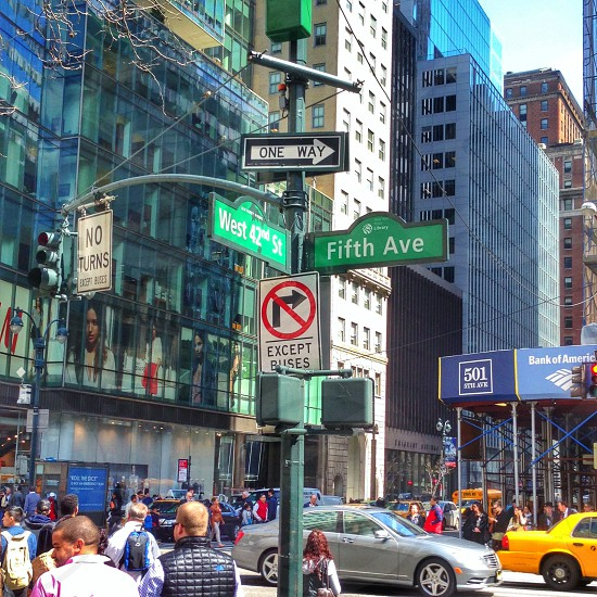 42nd st & 5th ave NYC photo