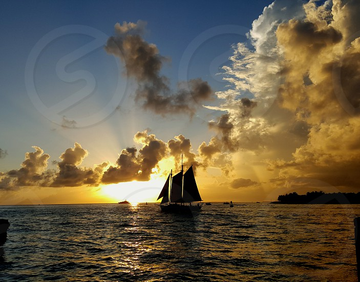 Sailing into the Sunset. photo