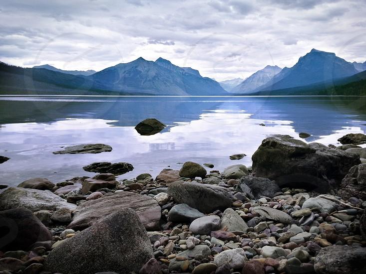 sea and mountain photography  photo