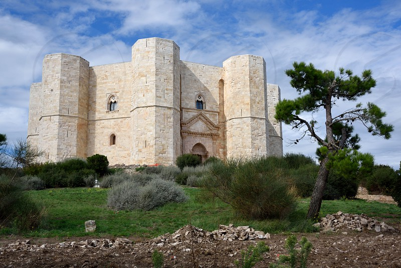 The Castel del Monte in Andria Italy.  Built in the 13th century by Frederick II. photo