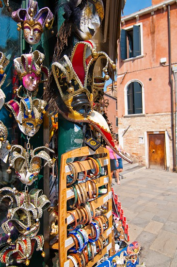 Venice Italy souvenir shop with carnival masks  photo