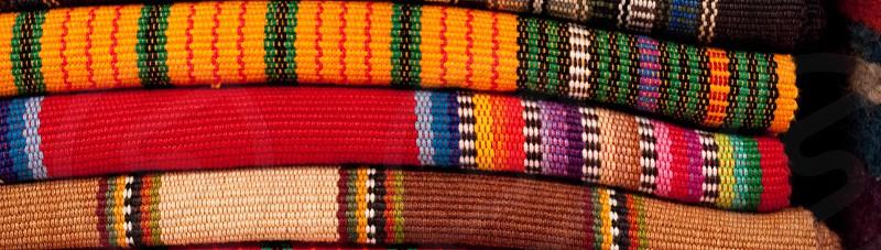 Colorful textiles in Guatemala's Chichicastenango  photo