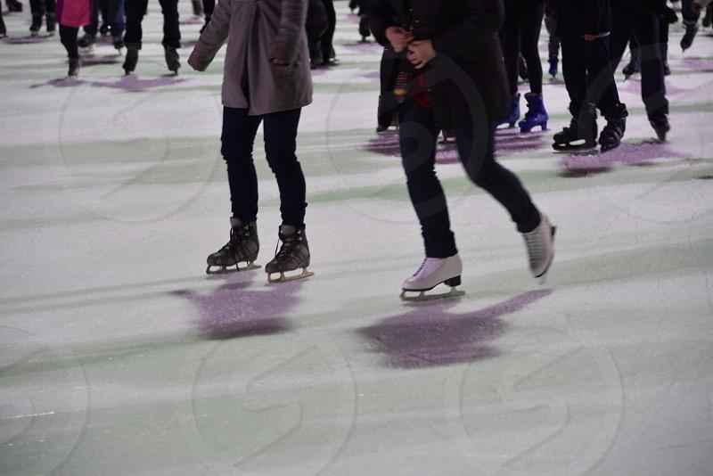 Ice skating fitness fun photo