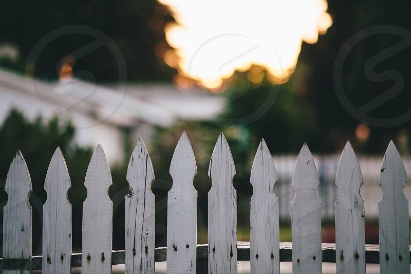 white wooden fence photo