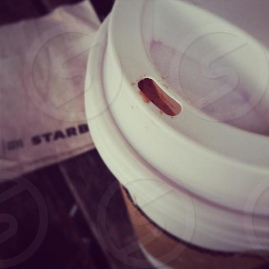 Hot chocolate on a rainy day. photo