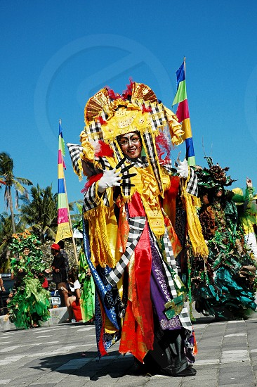 Costume creative parade at Kuta Carnival Bali photo