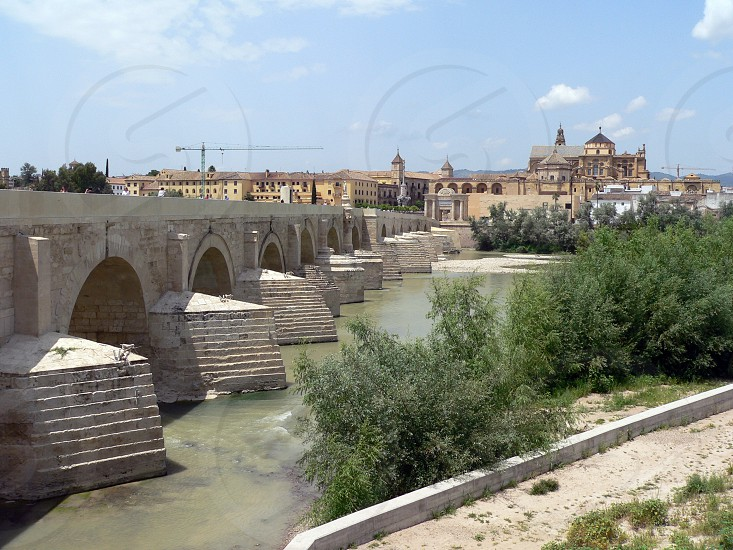 Roman Bridge in Cordoba Spain. photo