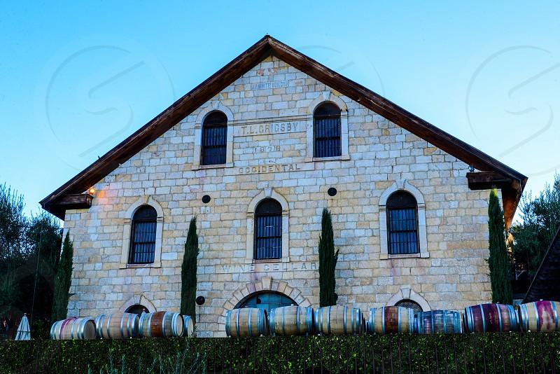 Winery; Napa Valley; California Wine Country; Wine Barrels; Wine Storage; Cabernet Barrela photo