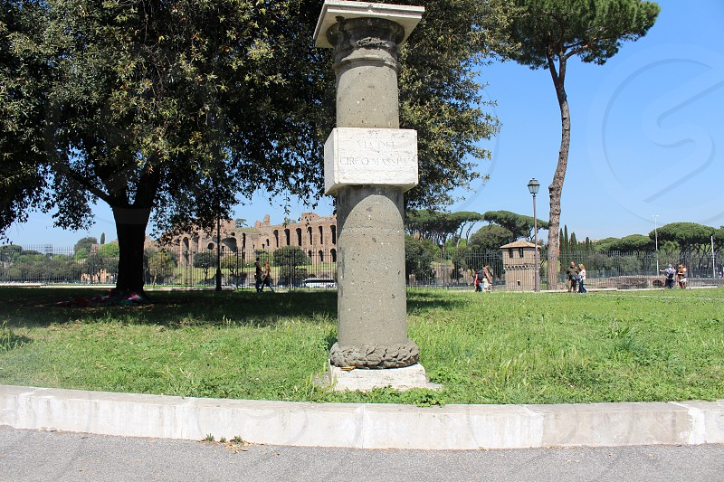 Holidays destination Rome Circus Maximus area photo