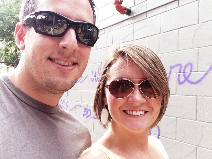 Happy couple selfie photo