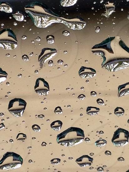 Rain drops on the windshield  photo