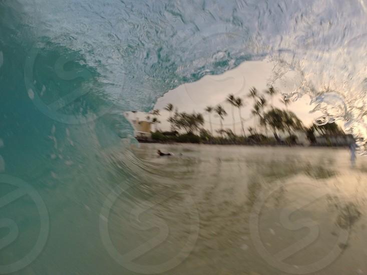 A wave barreling photo
