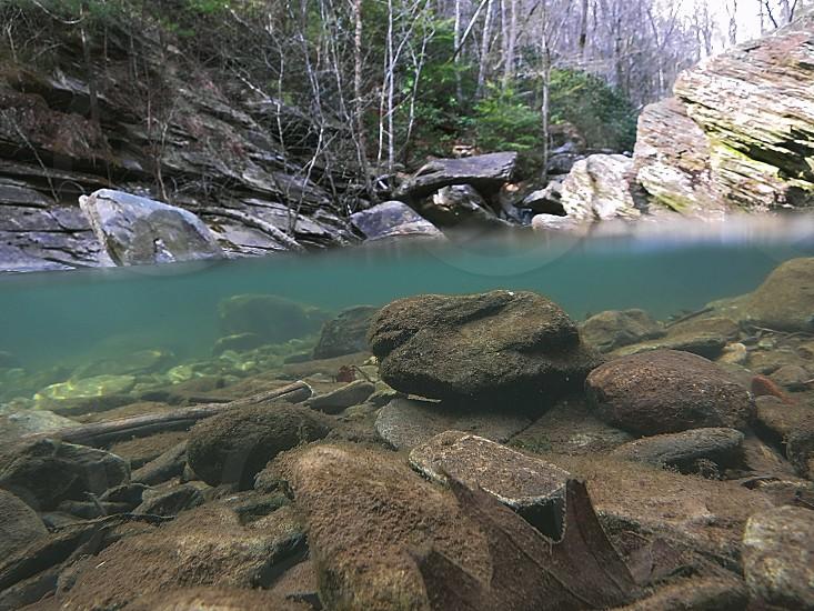 rocks river underwater photography photo