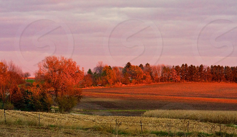 Beautiful country view .amazing sunset  MidwestILLINOIS        Ogle county  photo