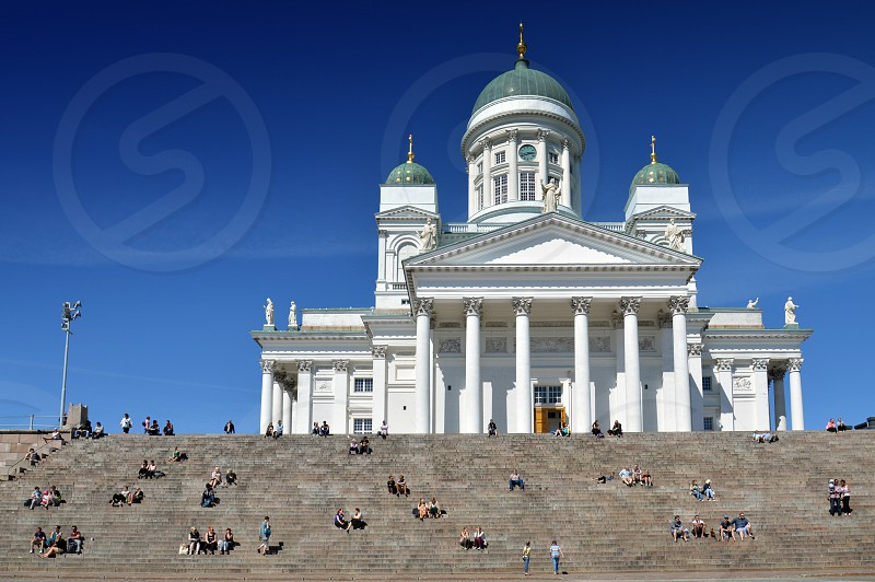 Helsinki Cathedral religious landmark in the city of Helsinki Finland photo