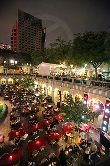 the Chijmes Church and the Restaurant in the city of Singapore in Southeastasia. photo