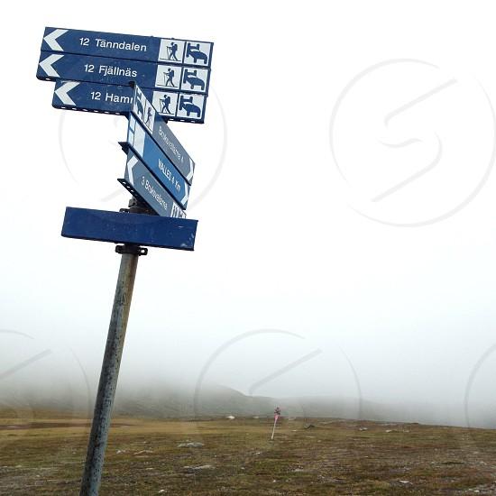blue road signage photo