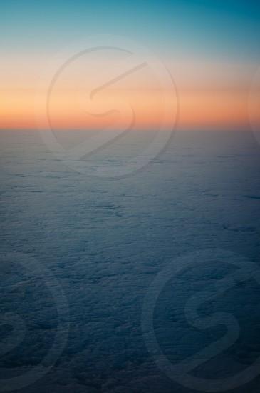 clouds sunset airplane shot photo