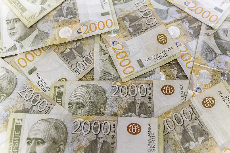 Serbian paper money dinar banknote of 2000 denomination photo