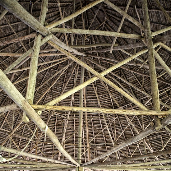 maloka ceiling wooden structure photo