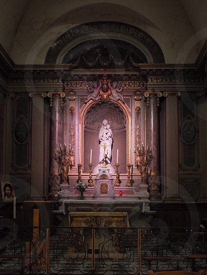 Interior View of an Altar in the Church of Notre Dame in Bordeaux photo