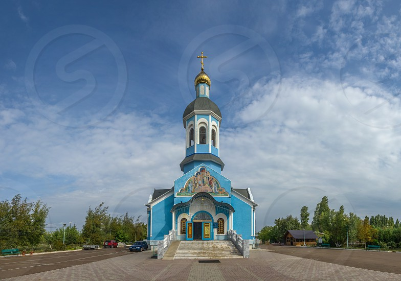 Yuzhne Ukraine - 09.03.2018. Holy Vvedensky Church  in Yuzhny  port city in Odessa province of Ukraine on the country's Black Sea coast. photo