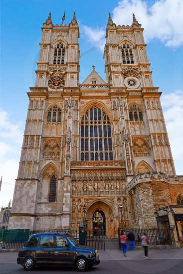 London Westminster Abbey facade in England photo