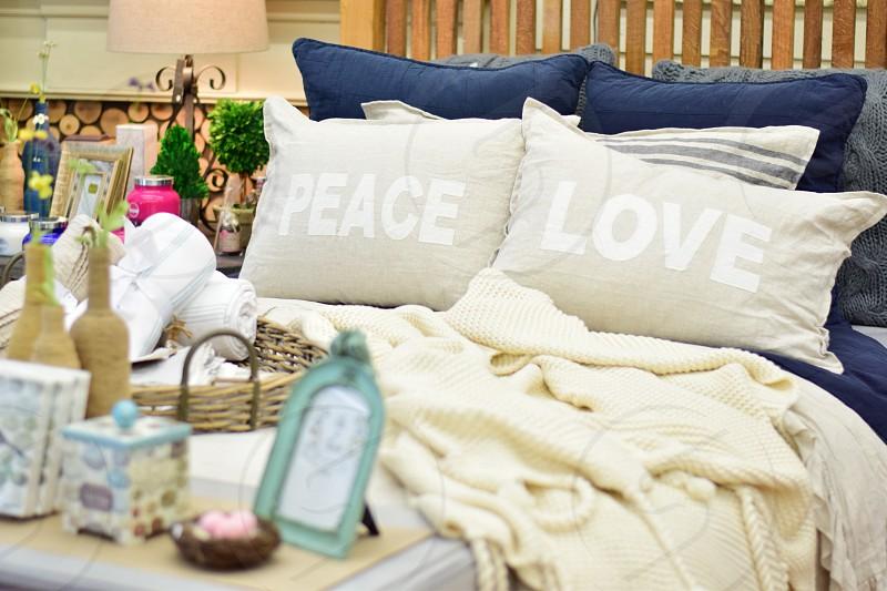 Relaxing in cozy bedding photo