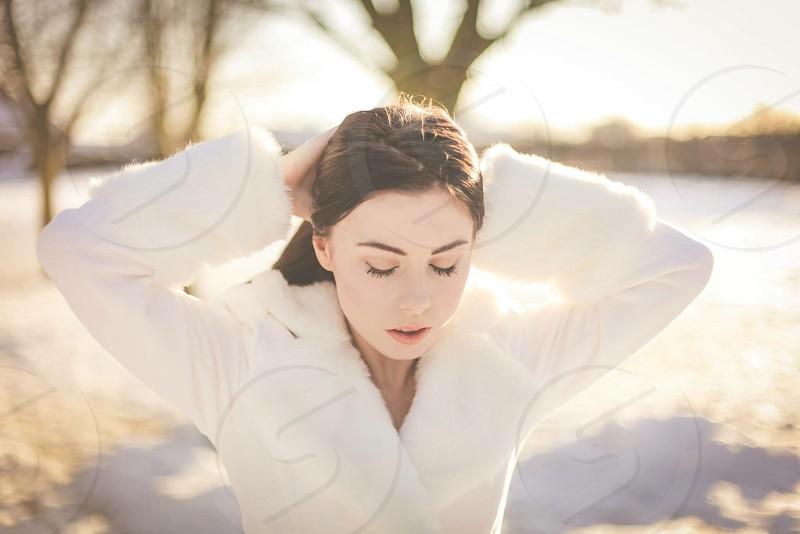 Girl in the snow #beautiful #girl #snow photo