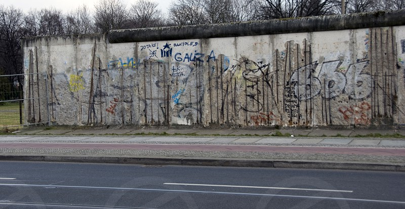 the wall in the museum part of the Berlin wall photo